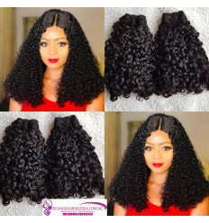 Diamond Curl Double Drawn