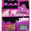 Beau Diva Kinky Curls Hair Extension with Closure, Wig Cap and Eyelashes