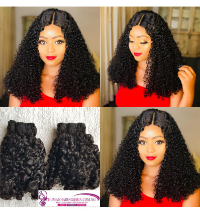 Super Double Drawn Diamond Pixie Curls Hair