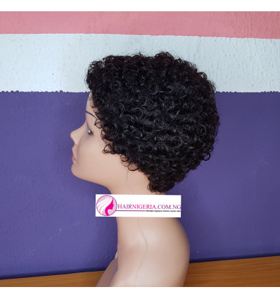Super Fab Affordable Curly Human Hair Cap Wig