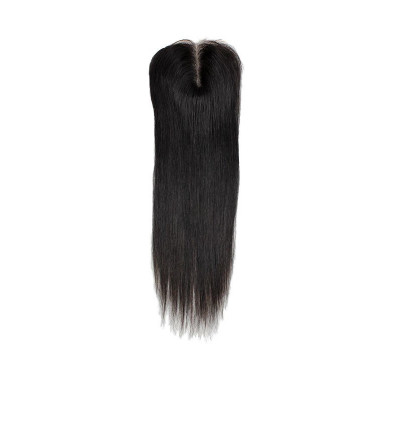 Human Hair Nigeria Middle Part Closure - Straight