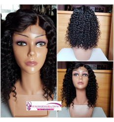 Lily Human Hair Curl Lacy Wig